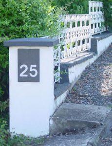 Hausnummer Naturschiefer