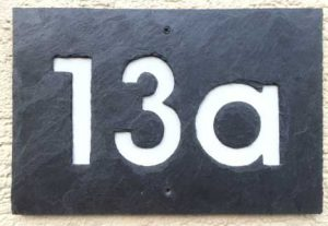 Schiefer Hausnummer 3-stellig
