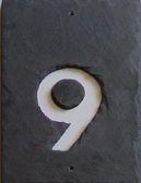 Hausnummern Schiefer
