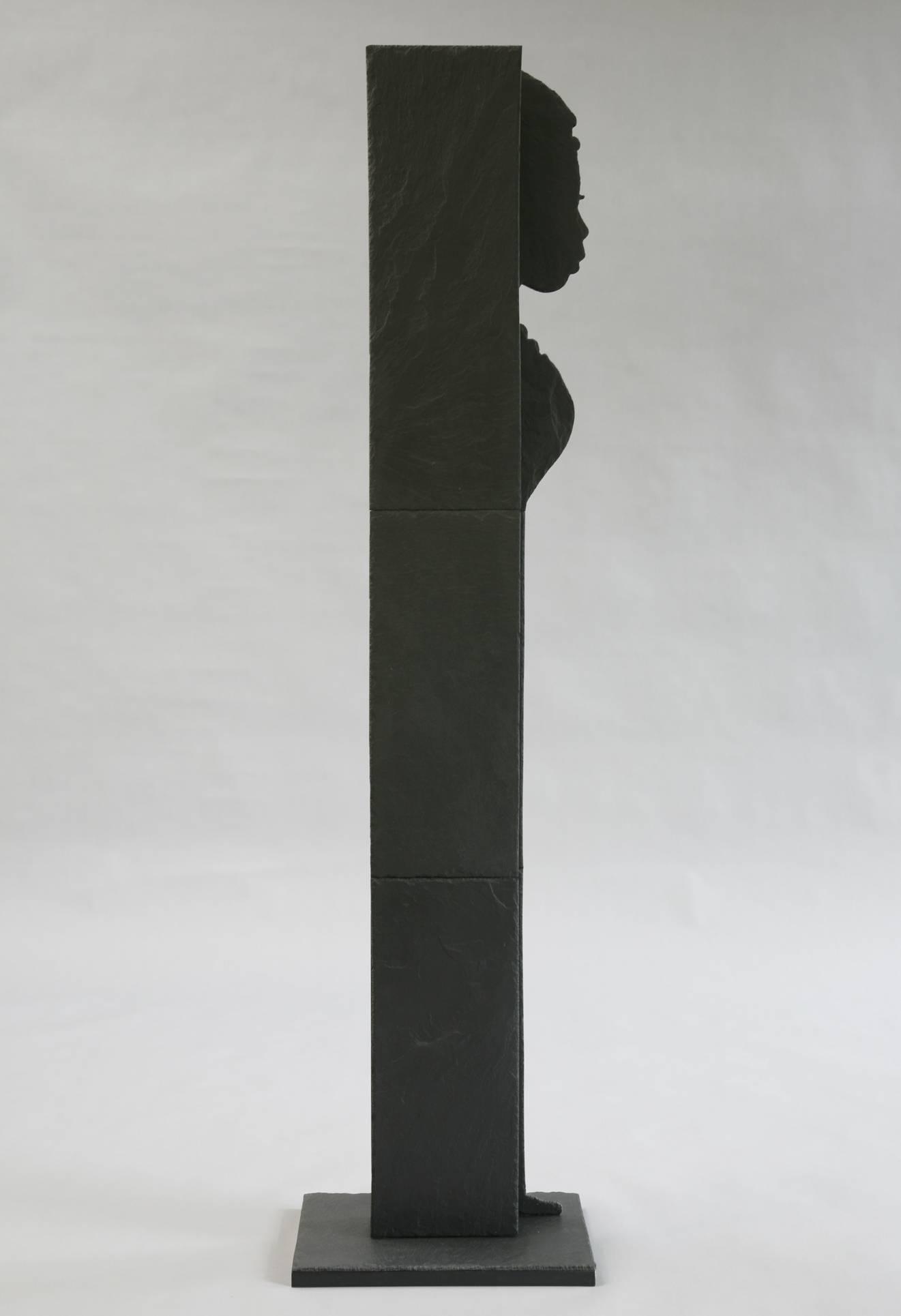 """Standfigur Naturschiefer Motiv """"Aus dem Schatten"""""""