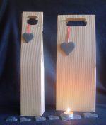 Herzen aus Naturschiefer, Geschenkanhänger