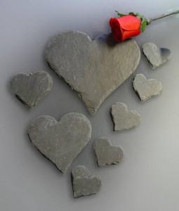 Herzen aus Naturschiefer