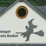 """Wandbild Naturschiefer Motiv """"Weinhex Winningen"""""""