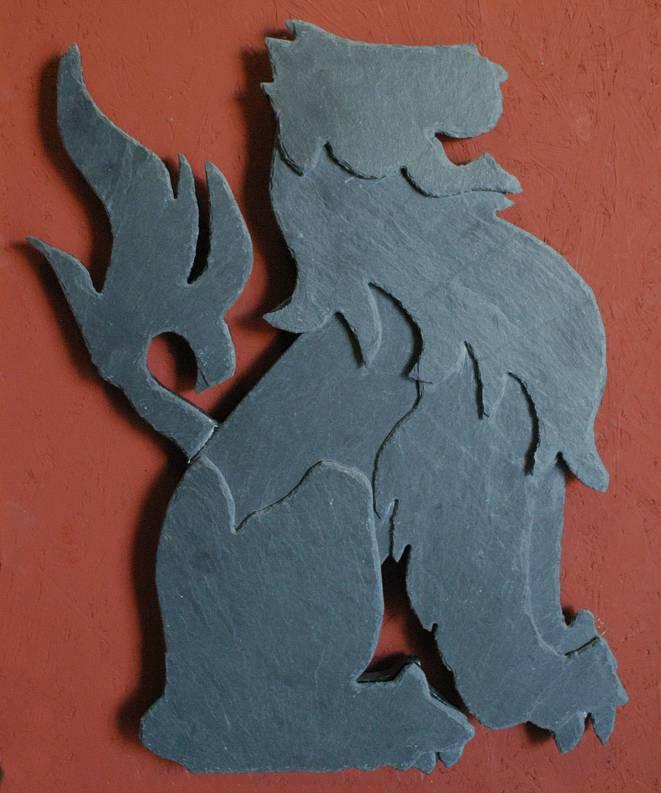 """Wandfigur Naturschiefer Motiv """"Löwe"""""""