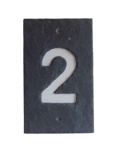 Hausnummer anthrazit
