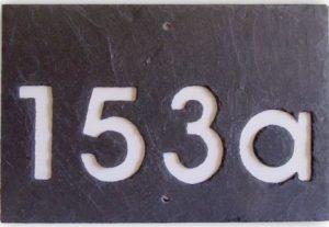Hausnummer Schiefer 4-stellig
