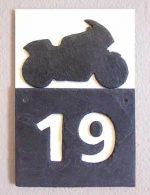 Motorrad-Hausnummer Schiefer