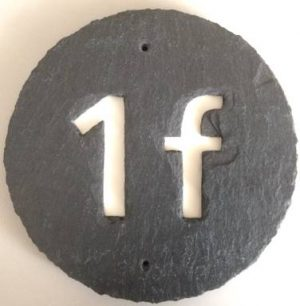 Hausnummer rund