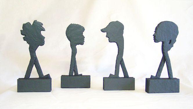 Schiefer Skulpturen, Schieferkunst, Kunsthandwerk