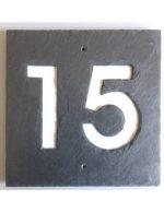 Hausnummer Schiefer quadratiscch