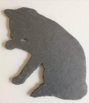 Katze aus Schiefer